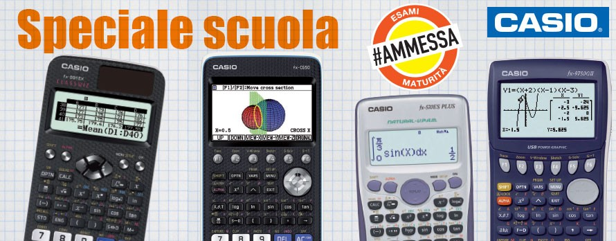 Calcolatrici scientifiche e grafiche Casio