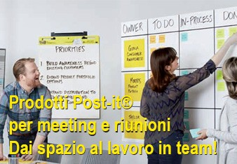 Le soluzioni Post-it per i meeting ed i brainstorming