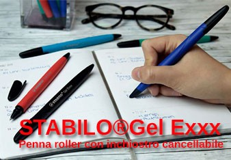 PENNA ROLLER CANCELLABILE STABILO GEL EXXX